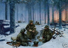 D-Day Bastogne Battle of the Bulge 101st Airborne Large poster Easy Company