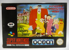 THE ADDAMS FAMILY PUGSLEY'S SCAVENGER HUNT SNES PAL GIG BOXED RARE