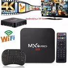 MXQ Pro 4K Smart Android5.1 TV Box Quad Core WiFi Media Player + Keyboard Lot