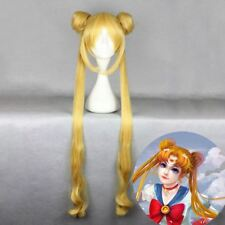 Sailor Moon Wig Women Long Yellow Wigs Anime Cosplay Tsukino Usagi Figure