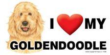 "Magnet-I (Heart) Love My Goldendoodle 4"" X 8"" Auto, Fridge, Locker Magnet"