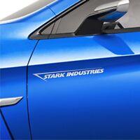 2x Stark Industries 30cm Auto Aufkleber Seitenaufkleber JDM Sticker Iron OEM DUB