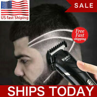 Men's Pro Clippers Beard Hair Trimmer Electric Cordless Shaver Razor Haircut USA