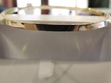 Bracelet jonc lisse  or jaune 18 carats