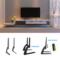 2X Universal Tabletop TV Stand Pedestal Mount Monitor Riser LCD LED Flat Screens