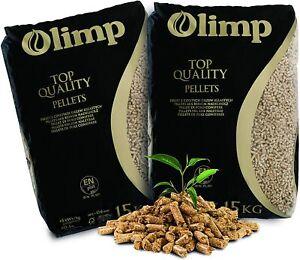 Holzpellets Olimp Premium-Qualität - Sackware (2 x 15 kg) EN Plus