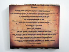 DESIDERATA Wood Sign - Poem on Rustic Wooden Plaque