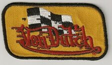 **NEW**Rare** Von Dutch Racing Finishing Flag Yellow w/ red Lettering Patch