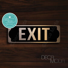 Exit Sign, Brushed Copper Finish Exit Door Sign, 9 x 3 inches