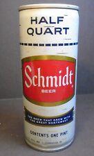 Vintage Half Quart One Pint Schmidt Beer can G. HEILEMAN BRG. CO. --unopened top