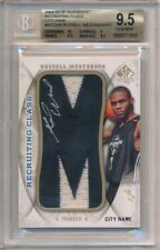 RUSSELL WESTBROOK 2008/09 SP AUTHENTIC RC AUTO LETTER PATCH 1/1 BGS 9.5 GEM 10