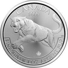2016 Canadian Predator Series Cougar 1 oz .9999 Silver Round Bullion BU Coin