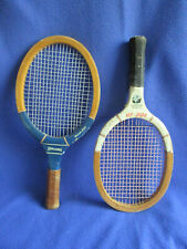 New listing Lot of 2 Vintage Wooden Racquetball Racquets - Spalding & Add In : circa 1970's
