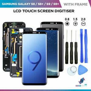 OLED Screen Display For Samsung Galaxy S7 S8 S9 Plus With Frame UK