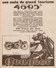 Y9093 Moto Gran Turismo PEUGEOT P. 170 S. - Pubblicità d'epoca - 1930 Old advert
