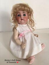 """Antique Simon & Halbig RARE 1299 6 Bisque Toddler Doll 14"""" Composition Baby Body"""