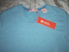 NWT Michael Brandon Light Blue Small V-Neck T-Shirt