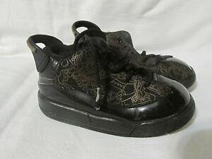 Nike Air Jordan Dub Zero Td Baskets Bébé Basketball Chaussures Noir Taille 8C