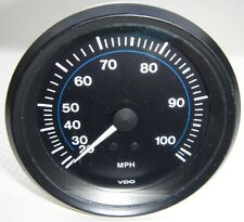 # 1 115 015 242A NEW VDO 20 - 100 MPH Speedometer Black / Blue Gauge FREE SHIP!