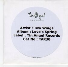 (EQ784) Two Wings, Love's Spring - DJ CD