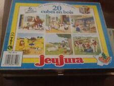 PUZZLE BOIS 20 CUBES - LES ANIMAUX ET LA FERME - JEUJURA