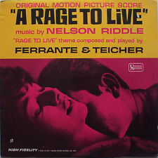 OST vinyl LP record - A Rage to Live - Nelson Riddle