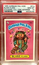 1986 GARBAGE PAIL KIDS PSA 10 #91A BLAKE FLAKE GEM MINT 10
