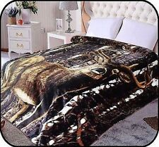 Hiyoko Deer Animal Mink Blanket Throw Bedspread Comforter Cover 90x75
