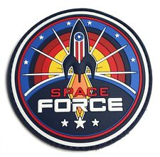 """The Space Force PVC Rubber military Morale patch - 3"""" Round logo (hook/loop)"""