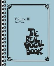 The Real Vocal Book Volume III Low Voice Real Book Fake Book NEW 000240392