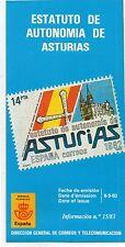 España Estatuto de Autonomía de Asturias año 1983 (DG-942)