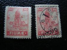 FIUME italia francobollo yvert e tellier n° 35 n e obliterati A16 stamp italy