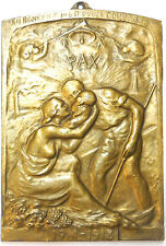 """1914-1918 World War I mother and father with child PAX huge cast approx. 6"""" x 9"""""""