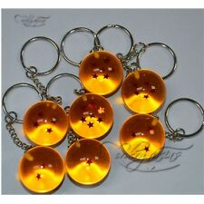 Anime DBZ Dragon Ball Z Cosplay Crystal Ball Stars Keychain Keyring Pendant 1pc