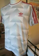 RARE ADIDAS ORIGINALS RETRO LIVERPOOL/CANDY PATTERN T SHIRT  M  3-stripe casuals