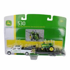 Ertl 1:64 Scale John Deere 530 Tractor w/Ford F350 & Trailer Set