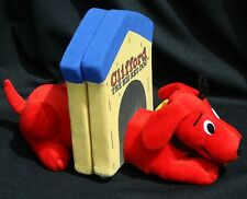 Clifford the Big Red Dog Bookends Talking Soft Book Ends Plush Cartoon Nursery