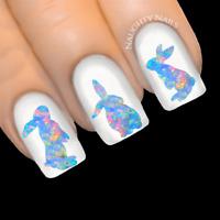 OPAL Bunny Easter Rabbit Nail Water Transfer Decal Sticker Art Slider