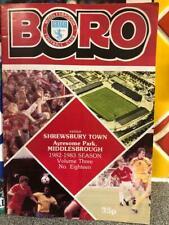 Middlesbrough v Shrewsbury Town 08/03/83 programme