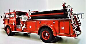 Fire Engine Truck Ford Built Metal Model Car Pickup Vintage Promo Classic 1966