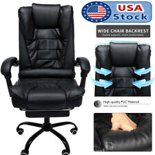 Ergonomic Leather Executive Office Desk Task Computer Boss Chair With Footrest