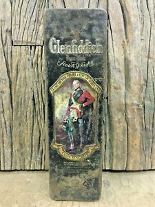 OLD VINTAGE GLENFIDDICH SCOTCH & WHISKY IRON TIN BOX MADE IN ENGLAND