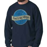 Thats No Blue Moon Space Wars Movie Nerd Long Sleeve Tshirt Tee for Adults