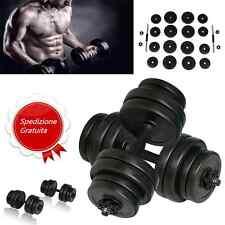 Set 30 kg Manubri con Peso Intercambiabile per Palestra Fitness Allenamento NEW