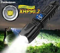 200000lm XHP90 XHP70 Tactical LED Flashlight USB Rechargeable Torch Lamp Camping