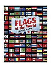 Flags of the World: 96 Color Stickers (Dover Stickers) Free Shipping