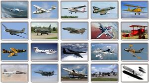 FRIDGE MAGNET - ICONIC AIRCRAFT (Various Designs) - Large Plane Airplanes