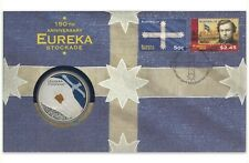 Australia 2004 EUREKA Stockade 150th Anniversary $5 UNC Coin & Stamp PNC Cover