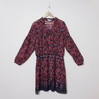 Table Eight Womens Plus Size 18 Summer Paisley Floral Long Sleeve Tunic Dress