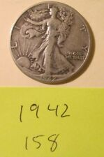 HA158H1018 - Silver Walking Liberty Half Dollar 1942    - Free Shipping